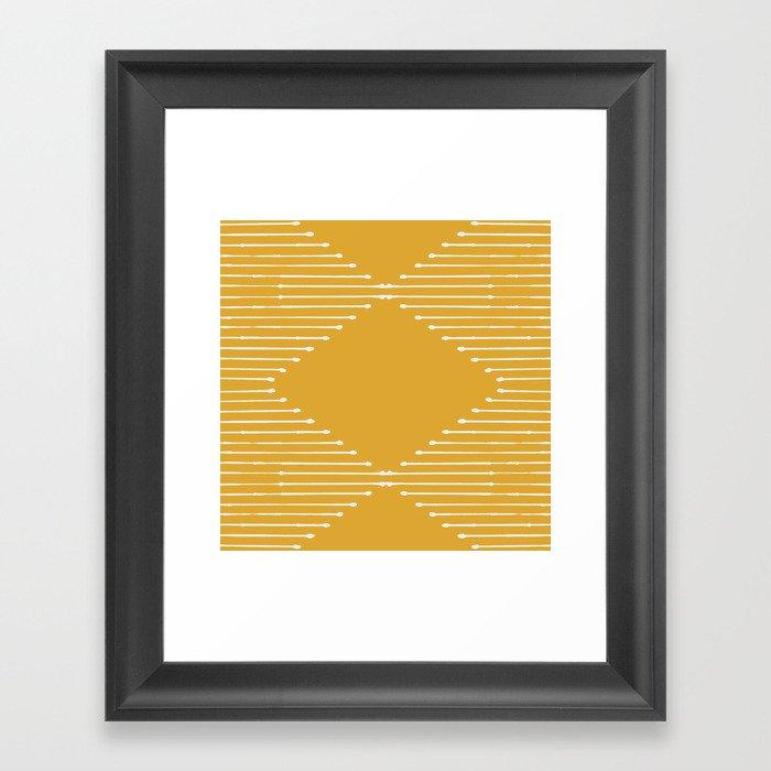 Geo (Yellow) Gerahmter Kunstdruck