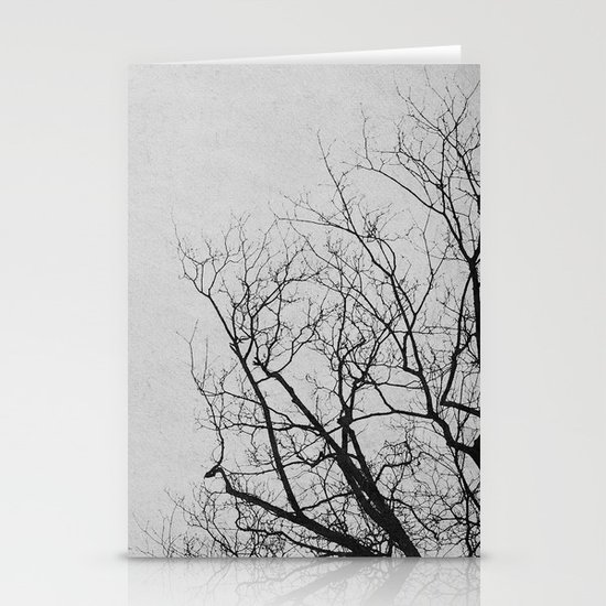 2 Trees (Grey) Stationery Cards