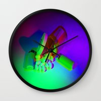 pills Wall Clocks featuring Pills by Mingo