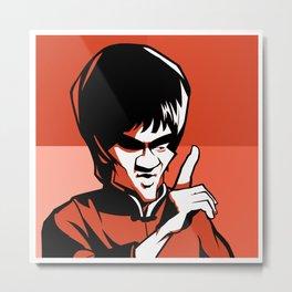 Kung fu master orange Metal Print