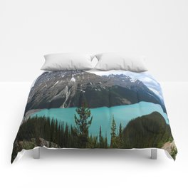 Peyto Lake Panorama Comforters