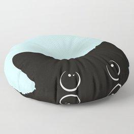 Black cat I Floor Pillow