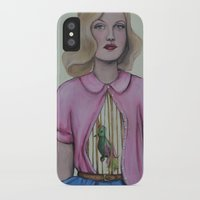 cage iPhone & iPod Cases featuring Bird cage/Rib cage by Emma Berlin