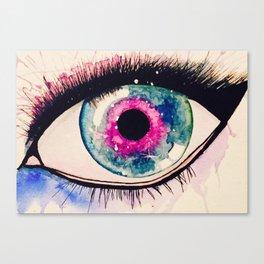 Eye into Galaxy Canvas Print