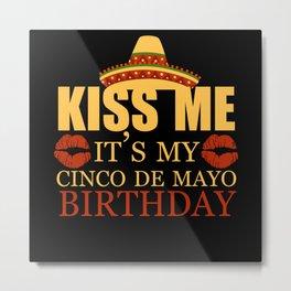 Mexico May Cinco De Mayo Sombrero Metal Print