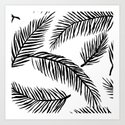 Black & White Palm Leaves by amandarachlee