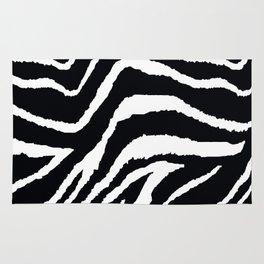 ZEBRA ANIMAL PRINT BLACK AND WHITE PATTERN Rug