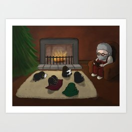 Storytime, (The Unexpected Adventures: Christmas Edition) Art Print