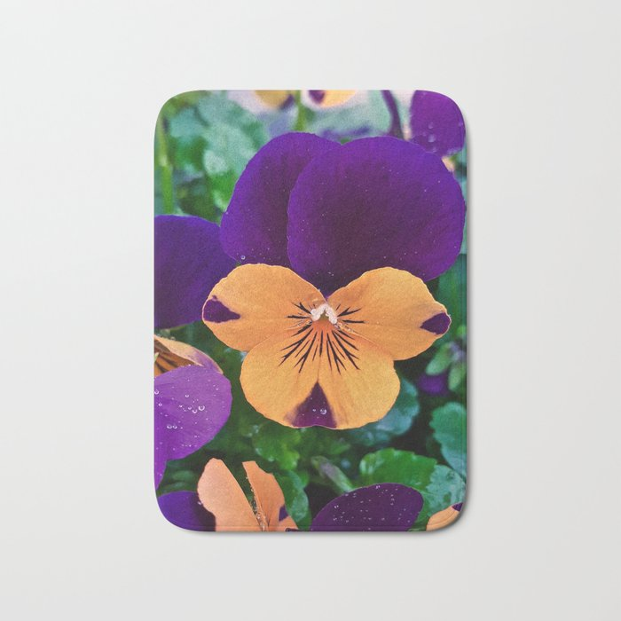Pansy; Clear and Calm Bath Mat
