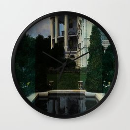 White House Lantern Slide Remastered Wall Clock