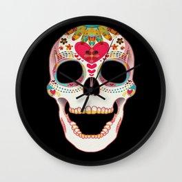 Skull Me Pretty Wall Clock