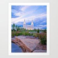 Kansas City, Missouri LDS Temple Art Print