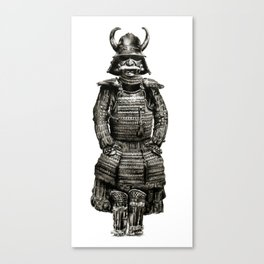 Japanese Armor Pencil Draw Canvas Print