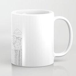 BigFoot Forest (Black and White) Coffee Mug