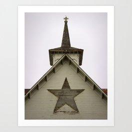 Star Barn Art Print