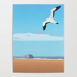 The Gannet and Bass Rock Poster