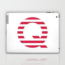 Qanon American Red Patriotic Stripes USA Great Awakening Q Laptop & iPad Skin