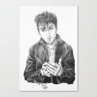 alex turner Canvas Prints featuring alex turner by roanne Q