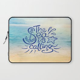 The Sea is Calling Laptop Sleeve