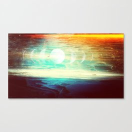 Lunar Phase Beach Canvas Print