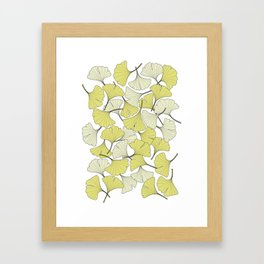 ginkgo leaves (special edition) Framed Art Print