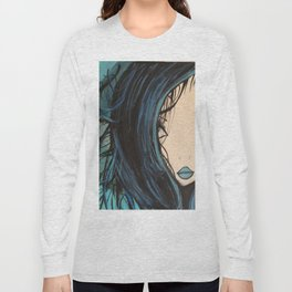 My Mermaid. Original Painting by Jodilynpaintings. Figurative Abstract Pop Art. Long Sleeve T-shirt