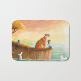 Pet Tiger by P.S. Brooks Bath Mat