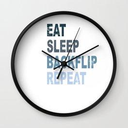 Eat Sleep Backflip Parkour Freerun Sport Gift Wall Clock
