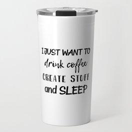 Coffee Create Sleep Travel Mug