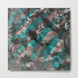 Bubblicious - Teal Pink & Taupe Palette Metal Print