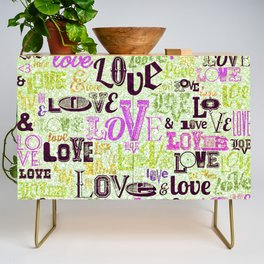 Vintage Love Words Credenza