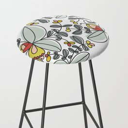 Watercolor Floral Bar Stool