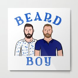 Beard Boy: Karl & Thomas Metal Print
