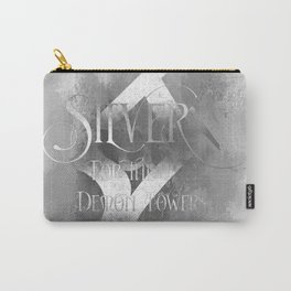 SILVER for the Demon Towers. Shadowhunter Children's Rhyme. Carry-All Pouch