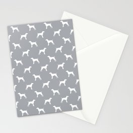 German Shorthair Pointer dog breed pet portraits dog silhouette unique dog breeds Stationery Cards