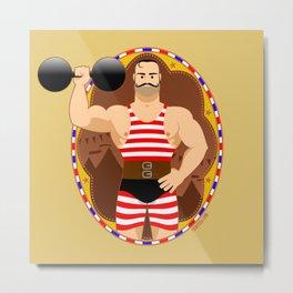 Circus strongman Metal Print