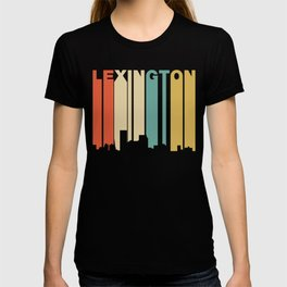 Retro 1970's Style Lexington Kentucky Skyline T-shirt