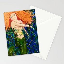 A shimmering mermaid Stationery Cards