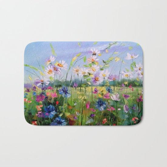 Blooming field Bath Mat
