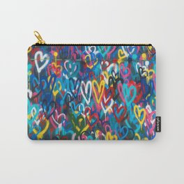 Graffiti Hearts Love (Color) Carry-All Pouch