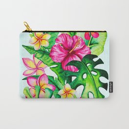 Tropical Summer Flowers Carry-All Pouch