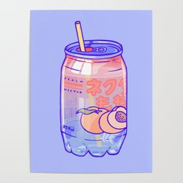 Peach Bubbles Poster