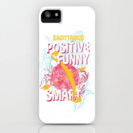 Sagittarius Zodiac Sign Horoscope iPhone Case
