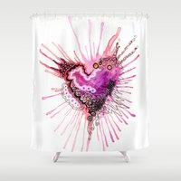 valentine Shower Curtains featuring Valentine by CSNSArt