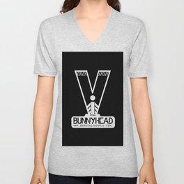 BUNNYHEAD BLACK Unisex V-Neck