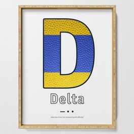 Delta - Navy Code Serving Tray