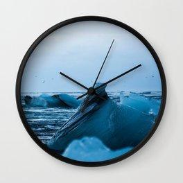 Glacial Lagoon Wall Clock