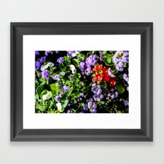 Flower Cluster Framed Art Print