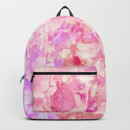 Girly Pink and Purple Painted Sparkly Watercolor Backpack