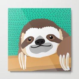 Brad Sloth Metal Print